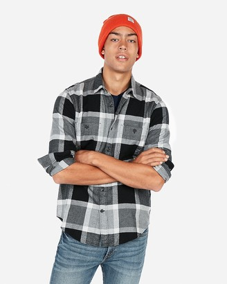 Express Plaid Flannel Shirt