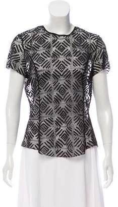 Nina Ricci Mesh Short Sleeve Top