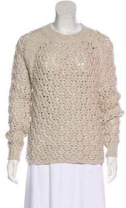 Theyskens' Theory Wool Crochet Knit Sweater