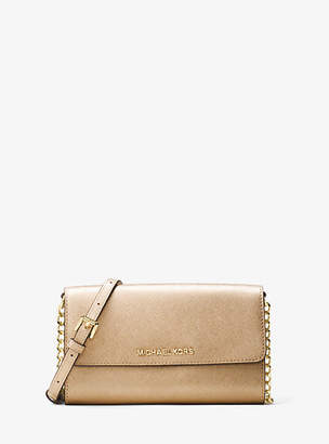 Michael Kors Jet Set Travel Metallic Leather Smartphone Crossbody