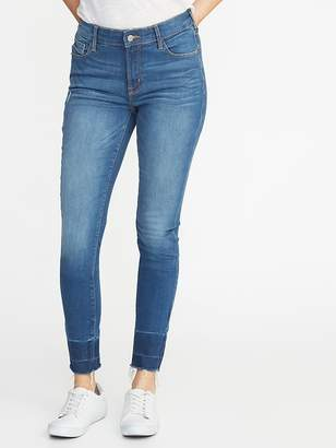 Old Navy Mid-Rise Built-In Sculpt Released-Hem Rockstar Jeans for Women