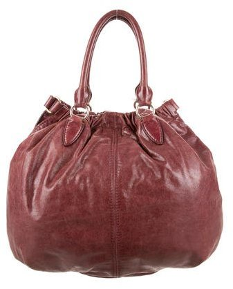 Miu Miu Miu Miu Distressed Leather Satchel