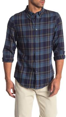 Slate & Stone Long Sleeve Trim Fit Checkered Shirt
