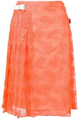 Christopher Kane pleated floral lace skirt