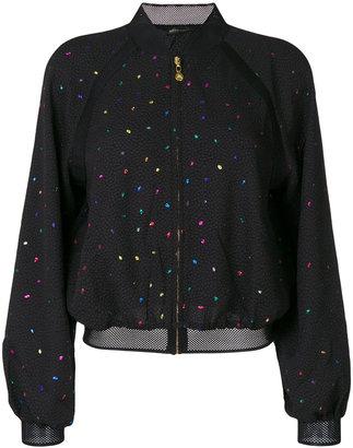 Stine Goya dotted pattern bomber jacket
