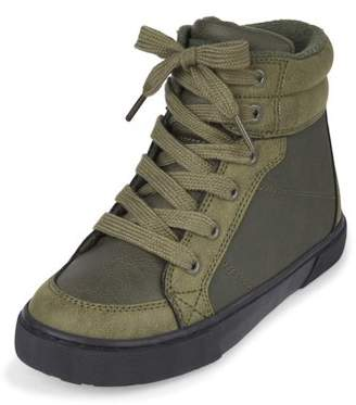 Children's Place The Boys' High Top Lug Sneaker