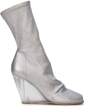 Rick Owens wedge mid calf boots