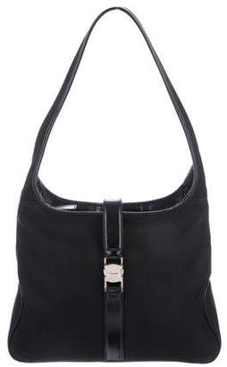 Salvatore Ferragamo Leather-Trimmed Hobo