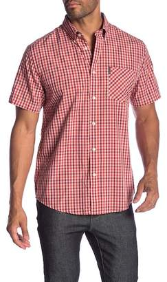 Ben Sherman Short Sleeve Mod Gingham Print Shirt