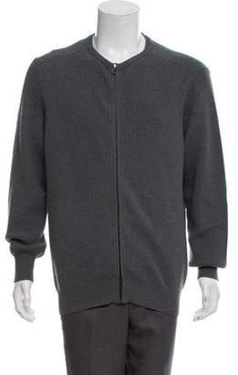 Salvatore Ferragamo Wool Zip-Up Sweater