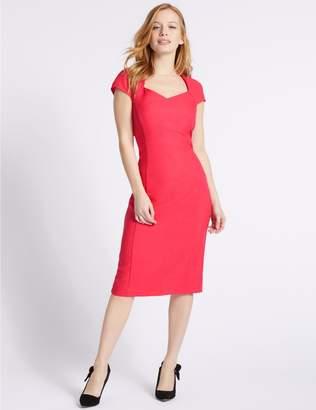 Marks and Spencer PETITE Short Sleeve Bodycon Midi Dress
