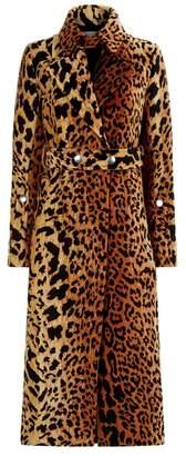 Victoria Beckham Leopard Print Jacket