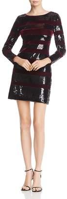 Reiss Selene Velvet-Striped Sequined Dress - 100% Exclusive