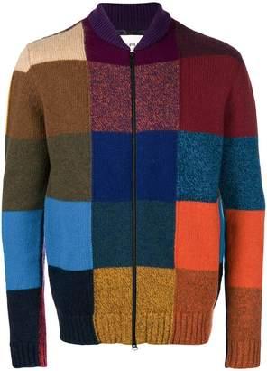 Etro colour block zipped sweater