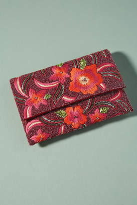Anthropologie Floral Burst Clutch