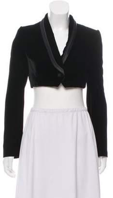 Dolce & Gabbana Velvet Shawl Collar Bolero Black Velvet Shawl Collar Bolero