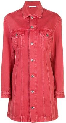 Helmut Lang button-up shirt dress