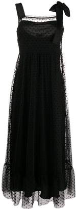 RED Valentino dotted tulle long dress