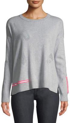 Lisa Todd Love Cashmere Sweater w/ Reflector Trim