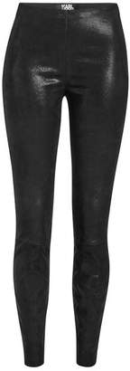 Karl Lagerfeld Leather Leggings