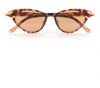 24fe64008d Missy Empire Missyempire Mila Tortoise Shell Cat Eye Sunglasses