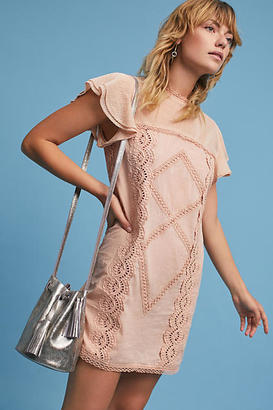 Tularosa Melodie Flutter-Sleeve Tunic Dress $218 thestylecure.com