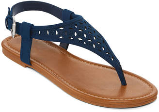 263b634cd26bd Arizona Womens Seymour Adjustable Strap Flat Sandals