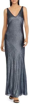 Ralph Lauren Metallic Flowing Gown