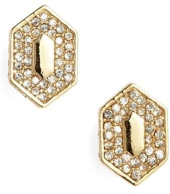 Pave Crystal Stud Earrings