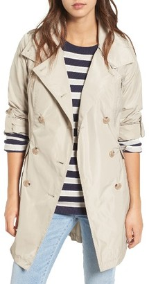 Women's French Connection Drape Back Trench Coat $138 thestylecure.com