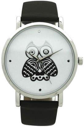 OLIVIA PRATT Olivia Pratt Owl Womens Black Strap Watch-A917349black