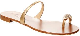 Giuseppe Zanotti Nuvo Rock Jeweled Toe Ring Leather Sandal