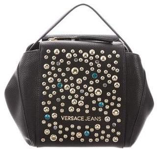 Versace Leather Embellished Satchel Bag