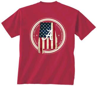 New World Graphics Men's Alabama Crimson Tide Flag Fill T-Shirt