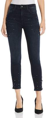 Mavi Jeans Tess Embellished Skinny Jeans in Ink Pearl