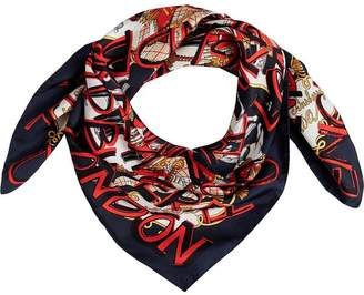 Burberry Graffiti Archive square scarf