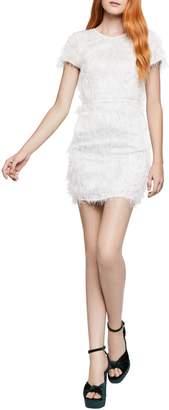 BCBGeneration Short-Sleeve Fringed Sheath Dress
