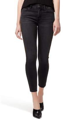 Sanctuary Social Standard Leopard Tuxedo Stripe Crop Skinny Jeans