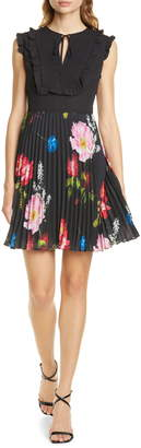 Ted Baker Romanna Floral Pleat Dress