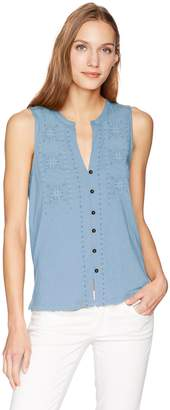 Lucky Brand Women's Embroidered Tank TOP, XL