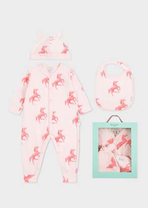 Paul Smith Baby Girls' Light Pink 'Horses' Print Playwear Set