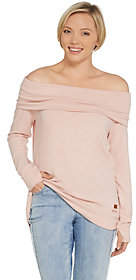 Peace Love World Comfy Knit Off the ShoulderTop