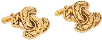Chanel Gold-Tone Cc Cufflinks