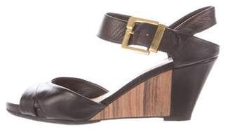 Sergio Rossi Wedge Leather Sandals