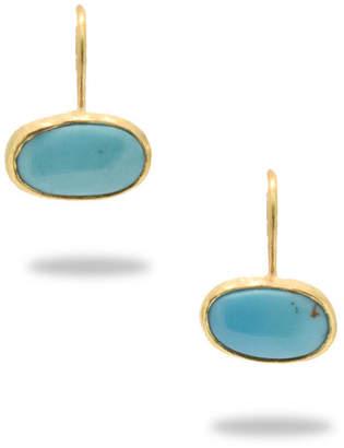 """Lori Kaplan Jewelry 18k Gold and Turquoise Earrings """"Kingman"""""""