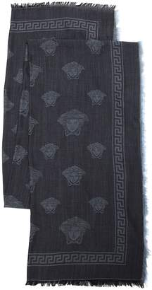 Versace Medusa Fine Wool & Silk Scarf
