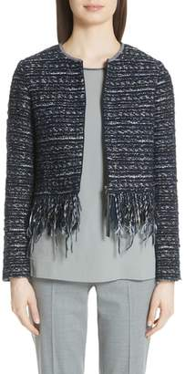 Fabiana Filippi Fringe Trim Tweed Jacket
