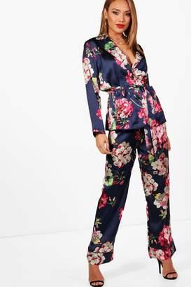 boohoo Floral Print Suit Trouser