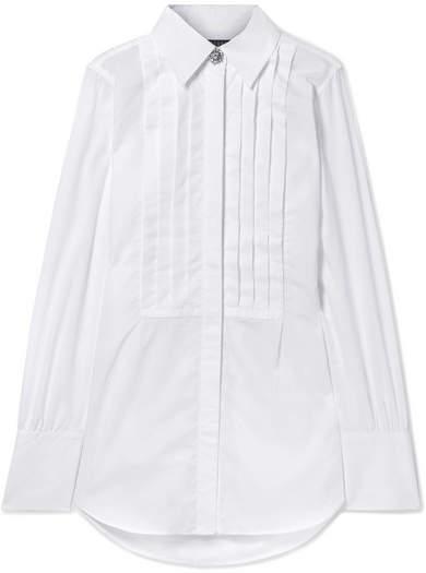 ALEXACHUNG - Oversized Cotton-poplin Shirt - White
