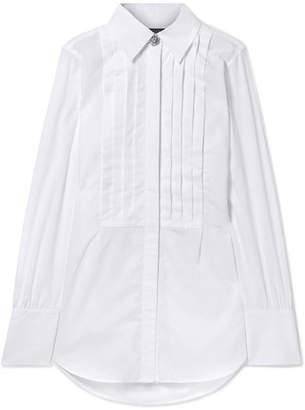 ALEXACHUNG Oversized Cotton-poplin Shirt - White